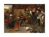 Peasant Feast Giclee Print by Maerten van Cleve