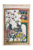 Friderich Von Leiningen Giclee Print by Heidelberger Lieder-Handschrift