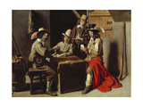 Soldiers Playing Cards Giclee Print by  Le Nain