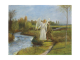 Tobias and the Angel, 1902 Giclee Print by Fritz von Uhde