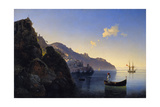 A View of the Amalfi Bay, 1841 Giclee Print by Konstantinovich Ivan Aivazovsky
