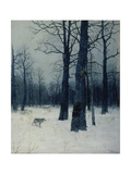 A Wolf in a Forest in Winter, 1885 Giclee Print by Isaak Iljitsch Lewitan