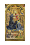 Virgin and Child Enthroned Surrounded by Angels Giclee Print by  Fra Angelico