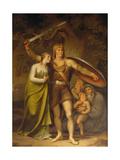 Hermann and Thusnelda, 1822 Giclee Print by Johann Heinrich Wilhelm Tischbein
