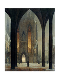 Cathedral in Winter, 1821 Giclee Print by Ernst Ferdinand Oehme