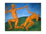 Playing Boys, 1911 Giclee Print by Kosjma Ssergej Petroff-Wodkin