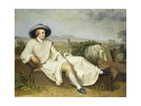 Goethe in the Roman Campagna, 1787 Giclee Print by Johann Heinrich Wilhelm Tischbein
