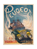 Advertising Poster for Peugeot, 1904 Giclee Print by G. De Burggrill