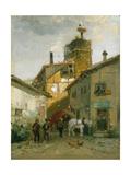 Idyllic Village Giclee Print by Hugo Mühlig