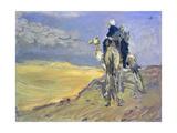 Sandstorm in the Libyan Desert, 1914 Giclée-tryk af Max Slevogt