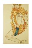 Der Gruene Strumpf, 1914 Giclee Print by Egon Schiele