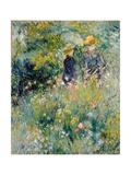 Conversation in a Rose Garden Giclée-tryk af Pierre-Auguste Renoir