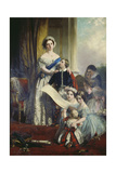 Queen Viktoria of England with Her Children Giclee Print by John Calcott Horsley