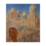 Shah-I-Zinda in Samarkand, 1921 Giclee Print by Kosjma Ssergej Petroff-Wodkin