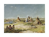 Tent Camp of Indians, Wyoming Giclee Print by Frank Buchser