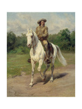 Colonel William F, Cody on Horseback, 1889 Giclee Print by Maria-Rosa Bonheur
