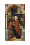Saint Joachim and Saint Anne Meeting at the Golden Gate, 1512 Giclee Print by Hans Fries