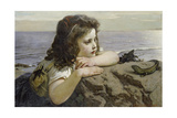 Girl with a Lizard, 1884 Giclee Print by Ernst Stückelberg