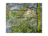 Through the Trees, 1878 Giclee Print by Claude Monet