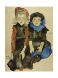 Two Young Girls, 1911 Giclee Print by Egon Schiele