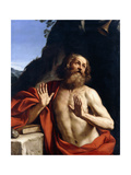 Saint Jerome in the Wilderness Giclee Print by Giovanni Francesco Barbieri