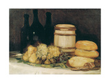 Still-Life with Fruits, Bottles and Loaves of Bread Lámina giclée por Francisco de Goya