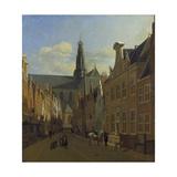 Street in Haarlem, C. 1680 Giclee Print by Gerrit Adriaensz Berckheyde