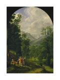 Landscape around Berchtesgaden, 1817 Giclee Print by Ferdinand Olivier