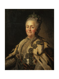 Portrait of Catherine II, 1780 Giclee Print by Fjodor Rokotov