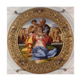 The Holy Family with Saint John (Tondo Doni), C. 1503-04 Giclée-tryk af Michelangelo
