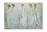 Eurhytmie, 1895 Gicleetryck av Ferdinand Hodler