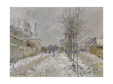 The Snow-Covered Boulevard De Pontoise at Argenteuil, 1875 Giclee Print by Claude Monet