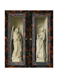 Winged Altarpiece 1437, Exterior Wings: Annunciation Print by  Jan van Eyck