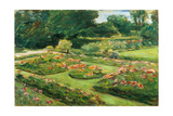 Flowering Garden Terrace of the Liebermann-Villa at the Shores of Lake Wannsee, 1915 Giclee Print by Max Liebermann