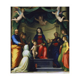 Mystic Marriage of St. Catherine of Siena, in the Presence of Eight Saints Giclee Print by Fra Bartolomeo