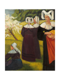 The Apple Pickers at Pont-Aven (Cueilleuses De Pommes a Pont-Aven), 1888 Giclee Print by Emile Bernard