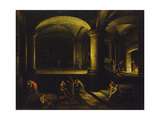 Interior of an Entrance Hall in a Court of Law Giclee Print by Hendrick Steenwijk