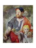 William Tell, (Study for the Frescoes in the Tell's Chapel, Lake Lucerne) Giclee Print by Ernst Stückelberg
