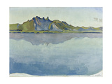 Lake Thun and the Stockhorn Mountains, 1910 Gicléetryck av Ferdinand Hodler