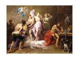 Venus Ordering Arms from Vulcan for Aeneas Giclee Print by Jean Restout