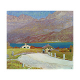 Landscape in Engadine Giclee Print by Giovanni Giacometti