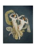 Floating Nymphs Giclee Print by Johann Heinrich Wilhelm Tischbein