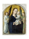 Madonna with Child Between Music Making Angels, 1490-95 Giclee Print by Gerard David