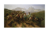 Spanish Muleteers Crossing the Pyrenees, 1857 Giclee Print by Maria-Rosa Bonheur