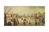 On the Ice, C. 1610 Giclee Print by Hendrick Avercamp