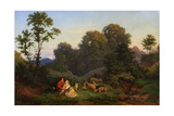 Spring Evening, 1844 Giclee Print by Ludwig Richter