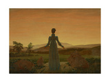Woman before the Setting Sun, C. 1818 Impressão giclée por Caspar David Friedrich