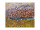 View of Silver Lake and Piz Corvatsch, C. 1906 Giclee Print by Giovanni Giacometti