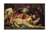 The Drunken Noah Wydruk giclee autor Giovanni Bellini