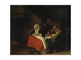 Farmer Eating Eggs Prints by Jan Steen